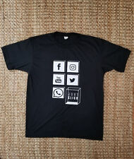 Black T-Shirt Social Media - Just Click T-Shirt Size M - New without Tags
