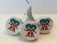 Dr Seuss/Thing 1 & Thing 2 Party Favors - Hershey Kiss Stickers