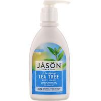 Jason Natural  Body Wash Purifying Tea Tree 30 fl oz 887 ml Leaping Bunny, No