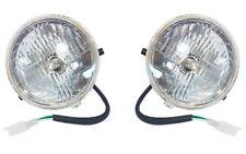 2 PACK 12V LIGHTWEIGHT PLASTIC HEADLIGHT LAMPS 3 WIRE GOKART SCOOTER I LT04S