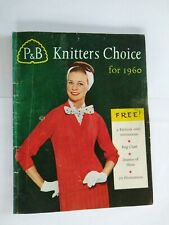 Amazing Vintage 1960's Knitting Patterns by P & B