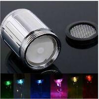 2X 7 Farben Farbwechsel LED Licht Wasserhahn Wasser Armatur Aufsatz Deko^` J0Q2