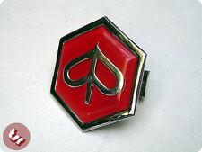 VESPA Horncast Hex Badge - Chrome Piaggio PX/T5/LML Red