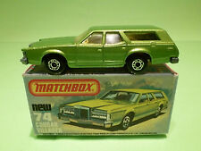 MATCHBOX  NEW 74 -  COUGAR VILLAGER   - NEAR MINT CONDITION -  IN BOX