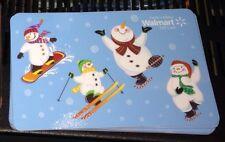 "WALMART CANADA GIFT CARD ""SNOWMEN WINTER SPORTS"" NO VALUE NEW 2015 SNOWMAN"