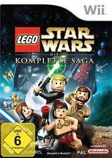 Nintendo Wii +Wii U LEGO STAR WARS DIE KOMPLETTE SAGA Top Zustand