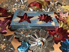 40 Vintage Christmas Tree Light Reflectors Metal Foil Stars & Flowers