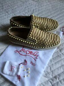 Authentic Christian Louboutin python slip on sneakers  size 43 EU