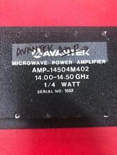 AVANTEK Amplifier 14.00-14.50 GHz,1/4 WATT  AMP-14504M402