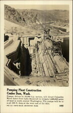Construction Coulee Dam Pumping Plant Real Photo Postcard
