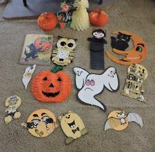 VINTAGE Lot Halloween Die Cuts, Honeycomb, Beistle & More ~16 Pc~ FREE SHIP