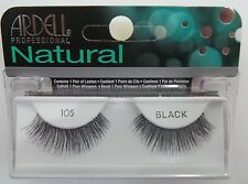 (LOT OF 72) Ardell Natural 105 False Lashes Authentic Ardell Eyelashes Black