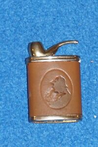RARE Dr. Watson Cigarette Lighter with Tobacco Pipe Leather Wrap