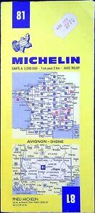 Ancienne carte Michelin collector-200 000é, Avignon, Digne