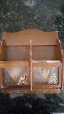 Gailstyn-Sutton wooden Key & Mail Rack Combo lucite panel dried flowers seeds