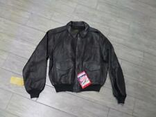 1987 nos AVIREX sheepskin leather A2 bomber jacket LARGE brown vintage NEW nwt