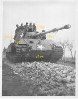 Dec 1944 US Signal Corps Reprint Photo German Tiger Tank Gersonweiler Germany