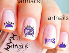 Sacramento Kings Basketball Sports Nail Team Fan Water Decal Stickers Salon Gift