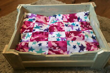 Hand made Wooden Dog Bed 60cms x 43cms