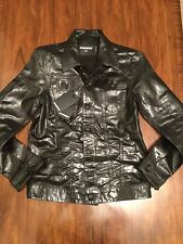 DSQUARED2 Men's Black Denim Jacket Size 46