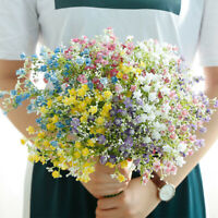 GI- KQ_ 1Pc Artificial Silk Babysbreath Flower Floral Bouquet Wedding Home Dream