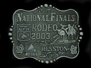 TJ03138 *NOS* NFR **2003 NATIONAL FINALS RODEO** HESSTON COLLECTOR BELT BUCKLE