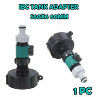 IBC S60X6 Garden Water Tank Outlet Fitting/Connector/Adapter 60mm with Tap Valve