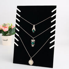 Jewelry Display Holder For Pendant Chain Necklace Stand Velvet Easel Black New