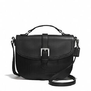 NWT Coach F51286 Charlie Leather Anderson Crossbody - Black