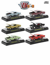 DETROIT MUSCLE 6 CARS WITH 6 CYL RELEASE 37 W/CASES 1/64 M2 MACHINES 32600-37