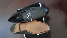 NIB $750 DSQUARED2 Luxury Black Calfskin Leather Mens Loafers US 10M / EU 43