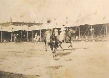 C. 1910, Pawnee Bill & Buffalo Bill Wild West Show, cowboy performer named, RPPC