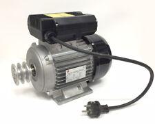 Motore elettrico 2 HP 4 Poli con Interruttore e puleggia per betoniera 230 V