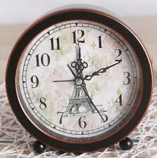 Creative alarm clock Dia.13.7cm vintage style desk clock home office decor-P02