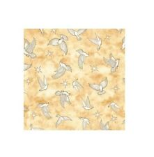 Religious Fabric - Heavenly Doves on Cream Gold - QT Quilting Treasures YARD