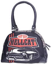 Hotrod Hellcat TOP CHOPS Hot Rod Leopard Bowler Bag / TASCHE Rockabilly