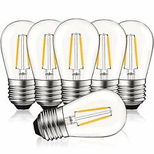 Luxrite S14 LED Edison Light Bulbs 2W Dimmable Warm White 200 Lumens E26 6-Pack