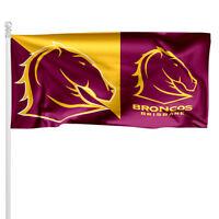 Brisbane Broncos NRL Pole Flag 1800mm by 900mm BNIP Cape