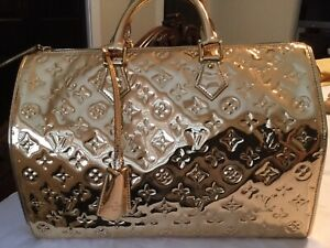 Louis Vuitton Miroir  Speedy 35  Gold  bag Limited Edition -Great Condition