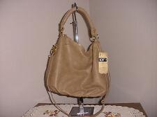 Large La Terre Faux Leather Fashion Hobo Shoulder Bag NWT TAN