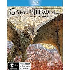 Game Of Thrones complete Seasons 1-6 27-Disc Box Set Blu Ray New/sealed