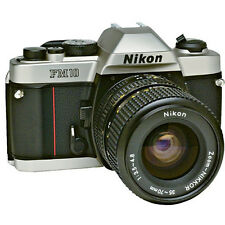 New NIKON FM10 SLR Film Camera and Ai Zoom Nikkor 35-70mm Lens