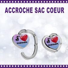 Accroche-sac coeur personnalisé J'AIME MAMAN  - St Valentin sac cadeau