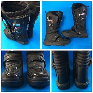 O'NEAL ONeal MX Motocross Motorcycle Boots Men's US 11 / EUR 45 Black EUC