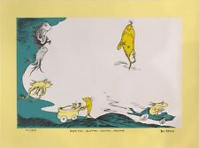 """One Fish Two Fish"" Dr. Seuss Art -Ted Geisel Limited Edition Signed VERY RARE!"