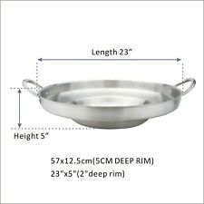 """23"""" Outdoor Stainless Steel Comal Concave Pozo Griddle Taco Grill Fry Pan"""