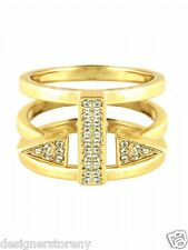 CC Skye Gold Plated Punk Heiress Ring size 7
