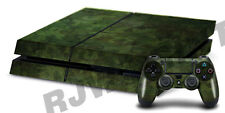 Playstation 4 Console Skin including PS4 Controller Skin - Green Camouflage