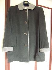 Size 18 EASTEX three quarter wool coat grey (Looks new) hip lengt duffle button