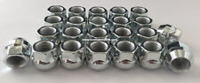 Chrome Lug Nuts Wheel Chevy Silverado 1500 Truck Set of 24 Cone Seat Open 14x1.5